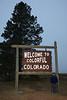 Ron Forseth reaches the Colorado border at 7:15 am!