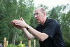 Jay Forseth explains a point during his message. Taken at the Forseth-Rozendal Family Reunion, Nathrop, Colorado, USA.