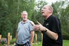 Mark Hickethier, left, is recognized by Jay Forseth for having taken care of Lora HIckethier during her cancer surgeries and treatments. Taken at the Forseth-Rozendal Family Reunion, Nathrop, Colorado, USA.
