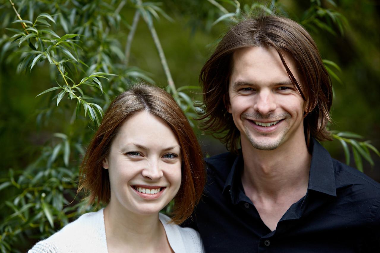 Erica and Joshua Brewinski, in a park in Lone Tree, Colorado, USA.