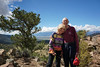 My father, Fred Forseth, and his wonderful lady friend, Chris Top. They came up to visit me at my campsite in the San Isabel National Forest. In the background are the fourteeners of the Collegiate Peaks, including Mount Antero on the left.