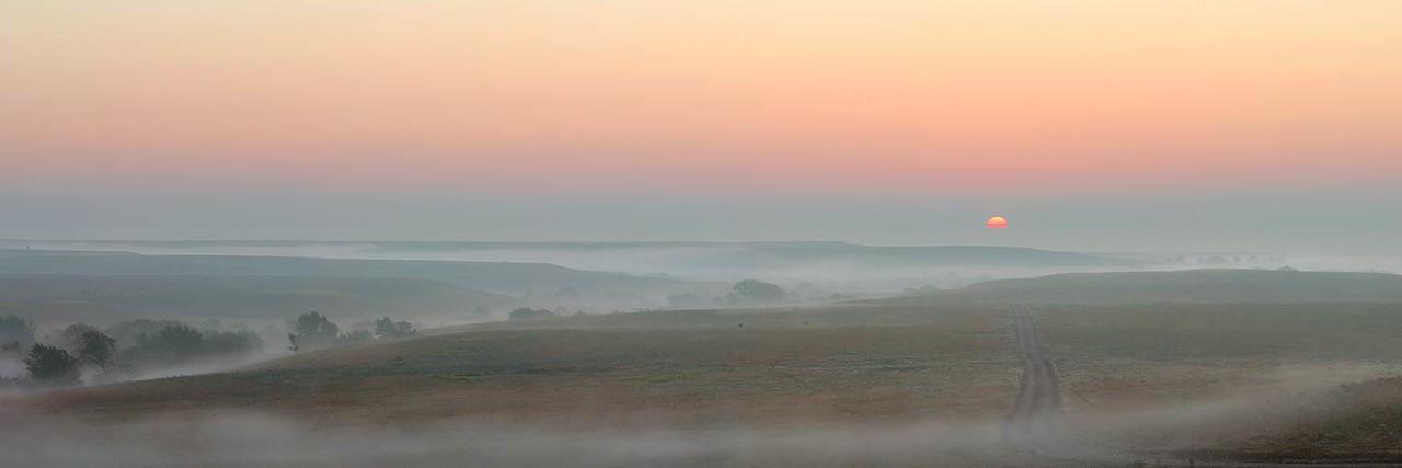 Flint Hills Foggy October Sunrise