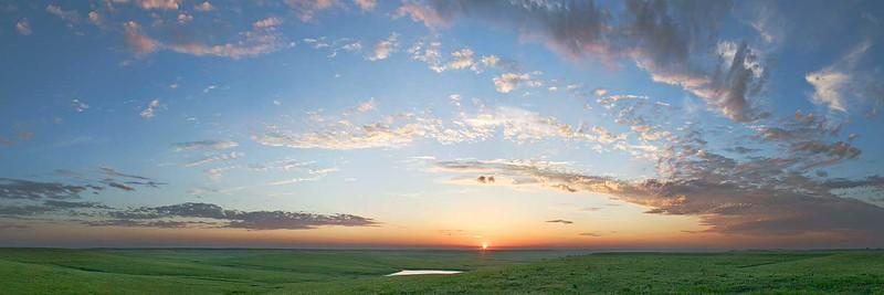 Flint Hills July Sunset