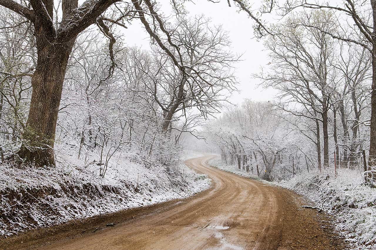 Flint Hills April Snowfall