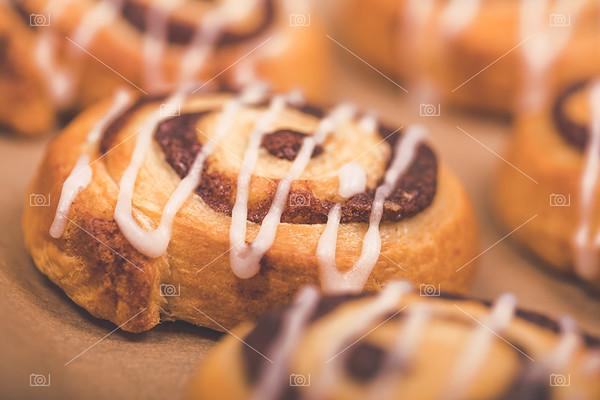Cinnamon swirl bun closeup