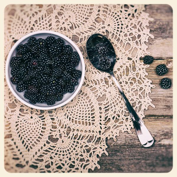 Blackberries instant photo
