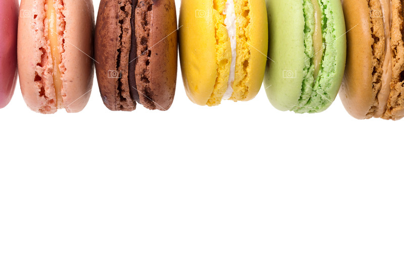 Macaroons isolated