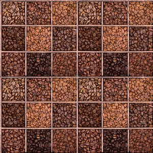 Seamless background of coffee beans