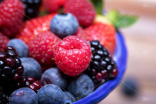 Summer fruits macro