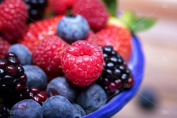 Summer fruits macro