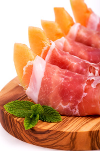 Parma ham and melon
