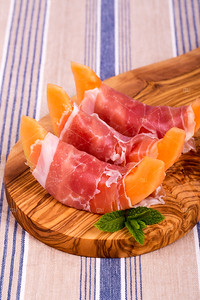 Melon and ham starters