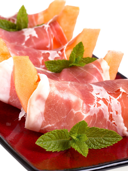 Parma ham and melon
