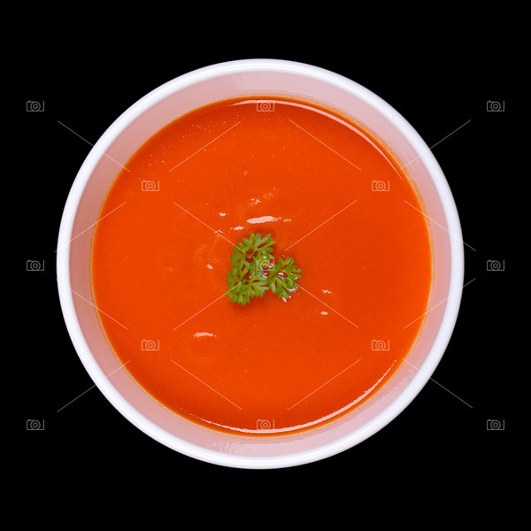 Soup isolated on black