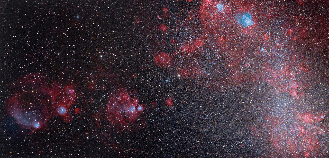 Gas and stars of a nearby galaxy