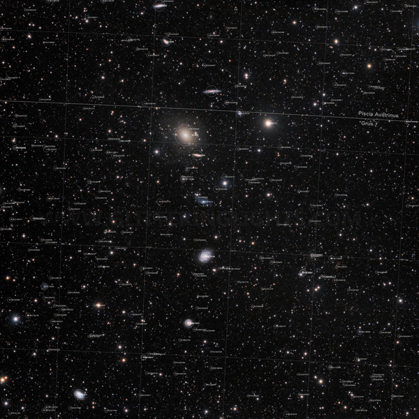 IC1459 Group of galaxies with labels