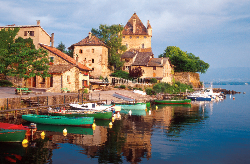 Morning in Yvoire, France