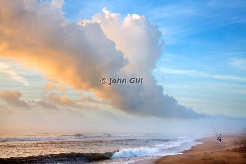 Surfcasting At Dawn
