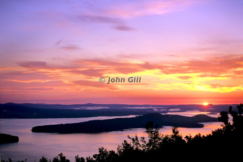 Dawn Over Rattlesnake Island, Lake Winnipesaukee