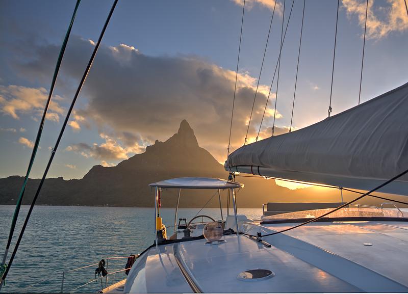 Sunrise aboard Te Miti