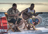 Musician friends of Sylvain providing some delicious entertainment aboard Te Miti...