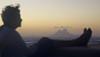 Faithie enjoying the view of Bora Bora