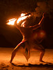 From Le Restaurant Le Ficus on the island of Taha'a – Polynesian Fire Dance (note the wisp of flame on the tip of the dancer's tongue)