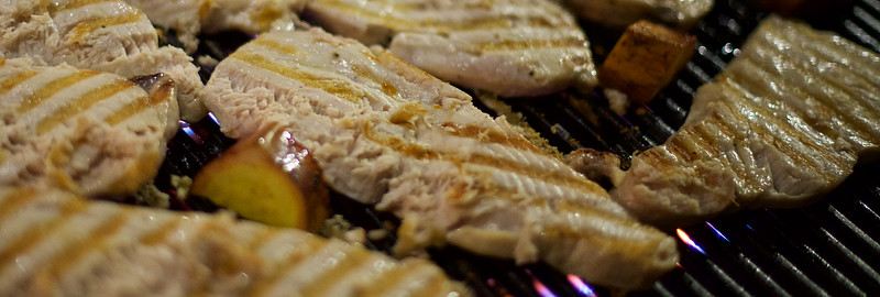 First night's main course – moonfish – on the grill (part 2)
