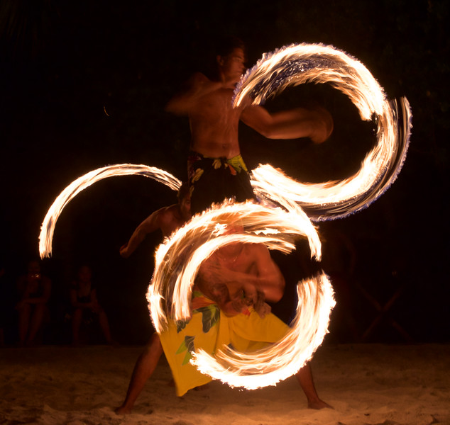 Fire dance at Le Ficus