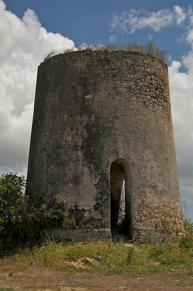 Ruins of windmill used in the processing of sugar cane