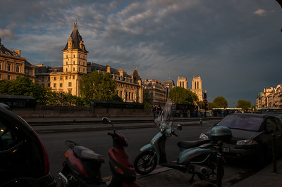 Late afternoon, Île de la Cité from the Quai des Grands Augustins