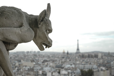 Gargoyle, Dome of Les Invalides, Eiffel Tower from the top of Notre Dame