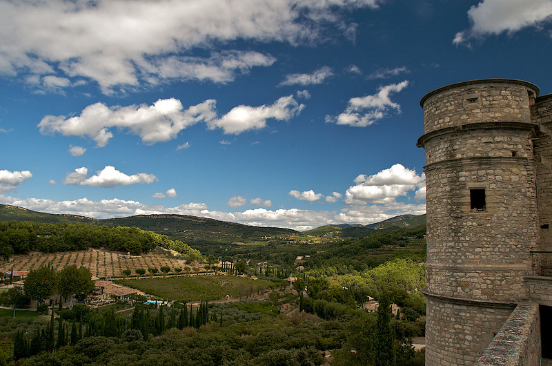 From the château at Le Barroux