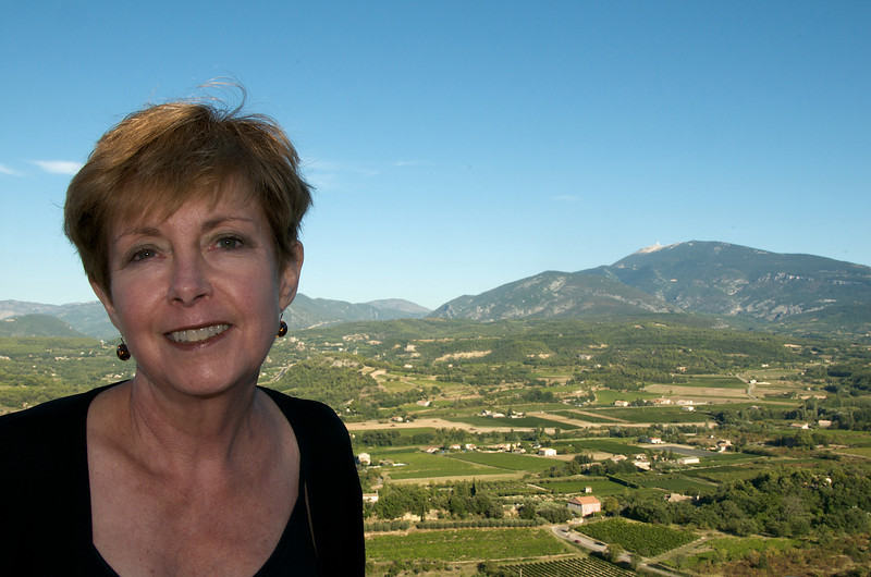 Faithie in Crestet with Mont Ventoux in background