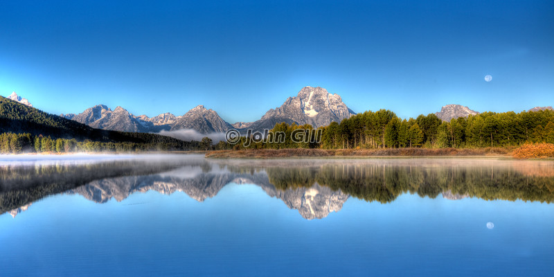 Mt. Moran Moonset