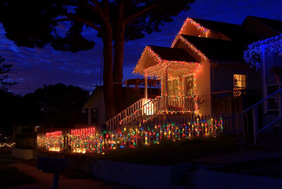 Christmas Lights Pacific Grove, California