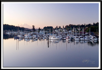 Early morning Gig Harbor and Mt. Rainier