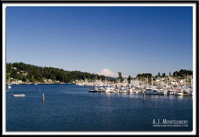 Midday Gig Harbor and Mt. Rainier