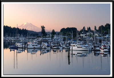 Early morning Gig Harbor and Mt. Rainier