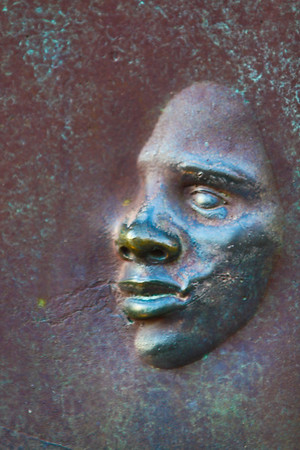 Washington DC, USA - An embossed face at the FDR Memorial