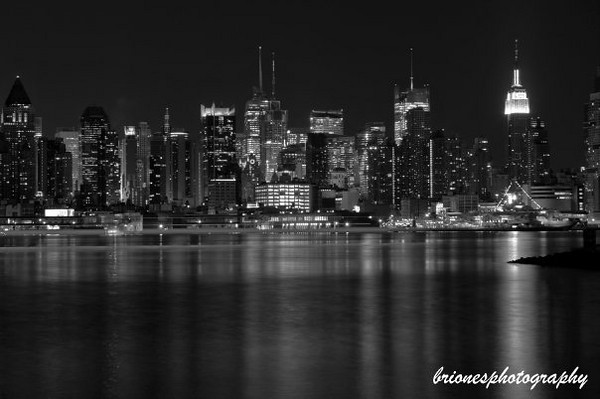 NYC view from Weehawken (Black & White)