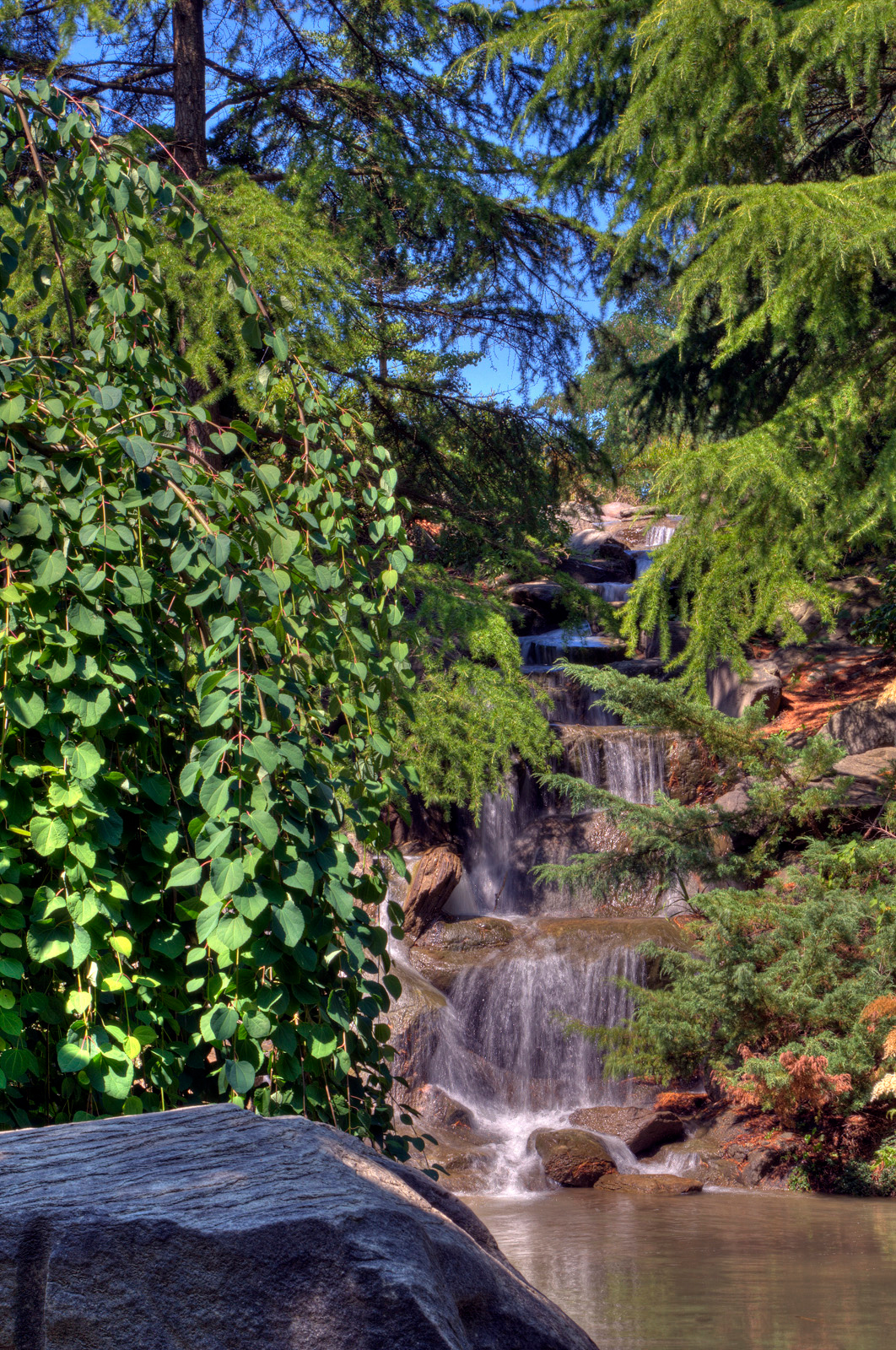 The Waterfall at VanDusen Gardens in Vancouver, BC