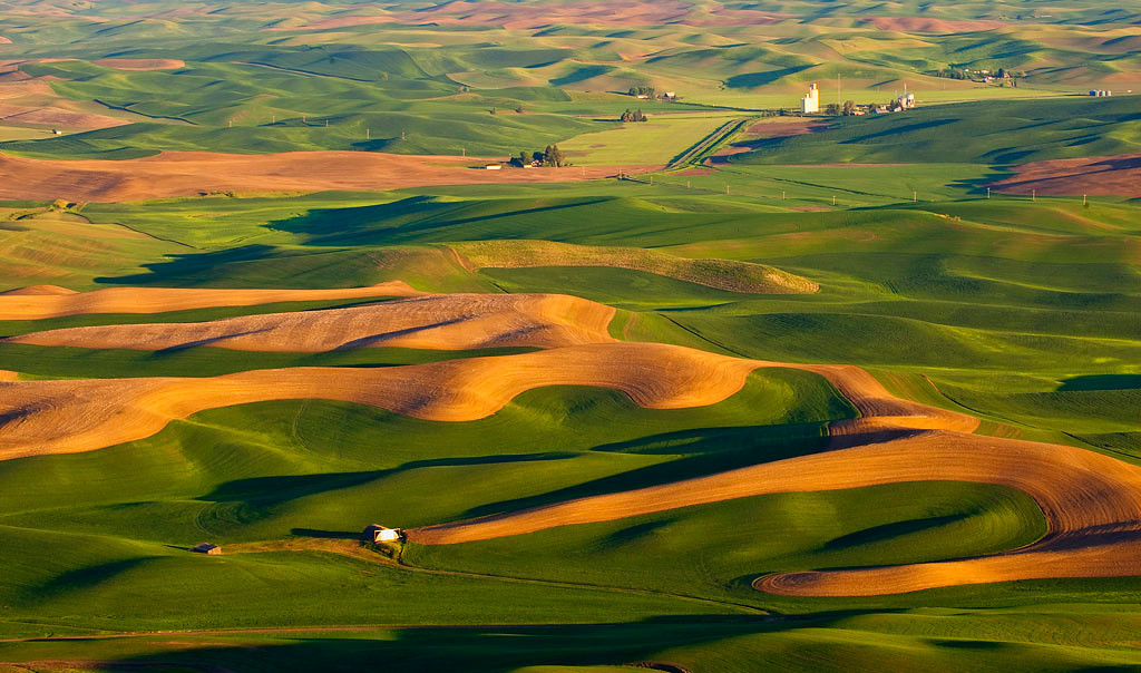 Scene from Steptoe Butte in Washington State Palouse region. 5 1 stop Sunrise shots to create this one