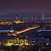 Portsmouth at Dusk from Portsdown Hill