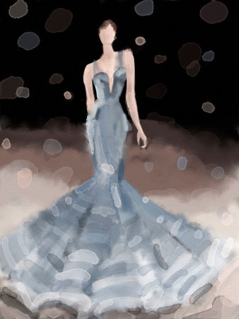 NY Fashion Week Spring 2012 ipad sketch - Zac Posen