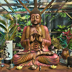 Kia Wood Buddha at Sacred Garden of Maliko
