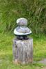 An elf statue made of stacked rocks. Taken in Bakkagerði, East Iceland.