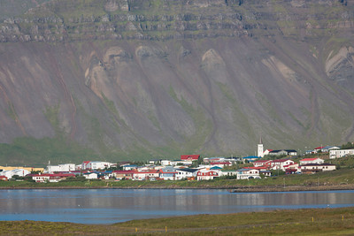 The village of Grundarfjörđur, West Iceland.