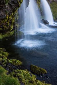 """Serenity in Triplicate""  Kirkjufellfoss, a waterfall near Grundarfjörđur, West Iceland."