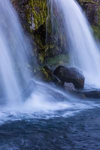 Kirkjufellfoss, a waterfall near Grundarfjörđur, West Iceland.